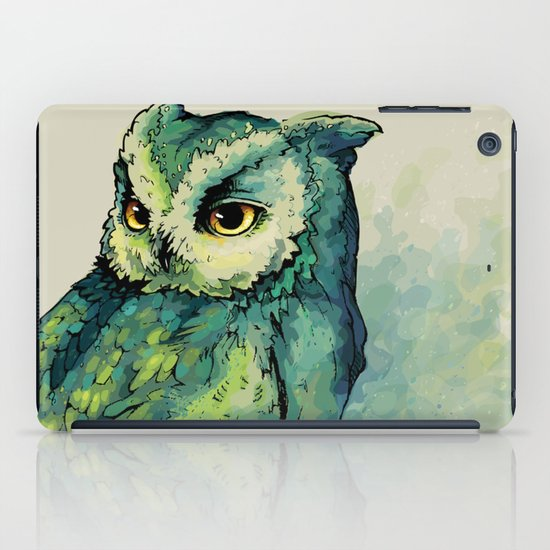 Green Owl iPad Case