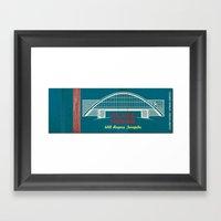 Glass House Matchbook Framed Art Print