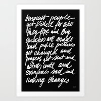 ABSOLUTELY NOTHING Art Print