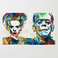 Frankenstein Art - Color… Rug