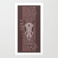 Dried Up Red Art Print