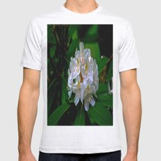 Rhododendron Bloom at Falling Water Mens Fitted Tee Ash Grey SMALL