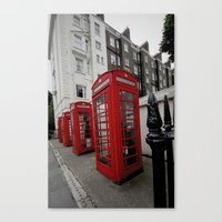 Phone Booths Of London Canvas Print