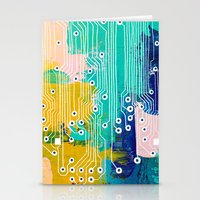 Chip Abstract Stationery Cards