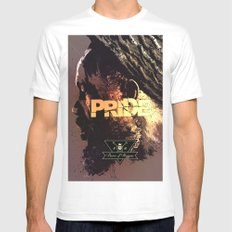 Pride & Reggae White Mens Fitted Tee SMALL