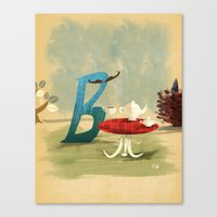 Time For Tea With Letter… Canvas Print