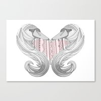 Swan Love Canvas Print
