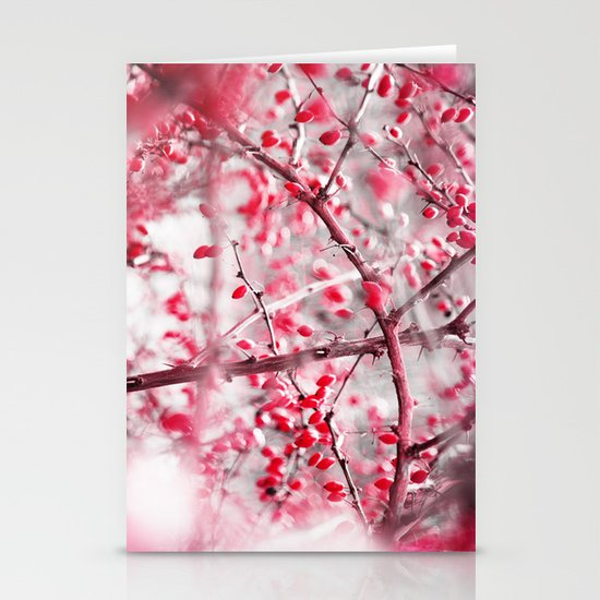 Winter Berries Stationery Card