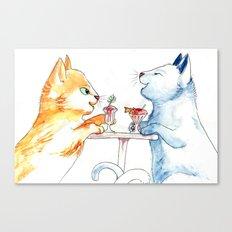Cat Sundae Canvas Print