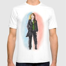 2 OLIVIAS DUNHAM (FRINGE) Mens Fitted Tee White SMALL