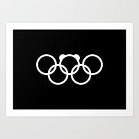 Olympic Games Logo 2014.… Art Print