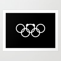Olympic games logo 2014. Sochi. Bear. Art Print