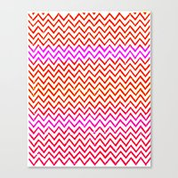 Fuschia - Chevron Canvas Print
