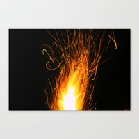 Let The Sparks Fly Canvas Print