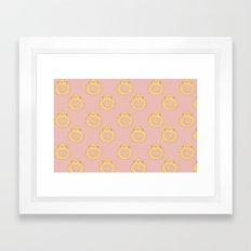 Bovi-doughnut Pattern Framed Art Print