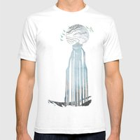 Moon Spring Fall Mens Fitted Tee White SMALL