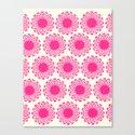 Vintage Flower_Pink Canvas Print