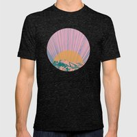 Rising Sun Mens Fitted Tee Tri-Black SMALL