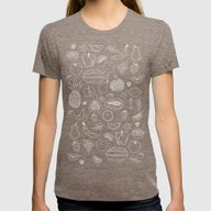 Fruity Womens Fitted Tee Tri-Coffee SMALL