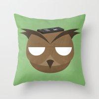 Remote Owl Throw Pillow