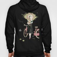 Girl And Cat With Pink B… Hoody