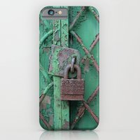 iPhone & iPod Case featuring Rusty Lock by Shy Photog