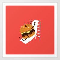 Slider Burger Art Print