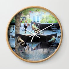 Summer space, smelting selves, simmer shimmers. [extra, 10] Wall Clock
