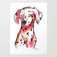 Brush Breeds-Dalmatian P… Art Print