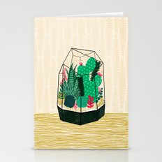Terrarium - Geodesic Plant for Succulents and Cactus by Andrea Lauren Stationery Cards