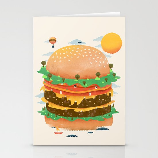 Burgerland Stationery Card