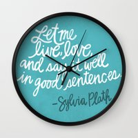To live and to love. (Colored) Wall Clock