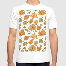 Autumn pattern Mens Fitted Tee SMALL White