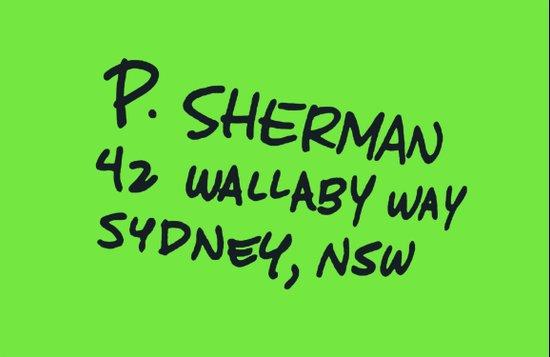 P. Sherman, 42 Wallaby Way Canvas Print