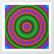 Mandala Flower Bouquet Art Print