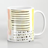 Dots And Stripes (pastel… Mug