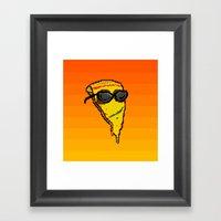Pizza Dude Framed Art Print