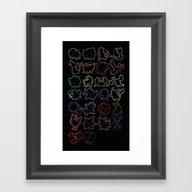 Oak's Alphabet. Framed Art Print