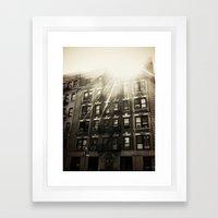 Brooklyn, NY Framed Art Print