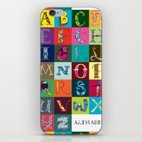 Hand Drawn Alphabet iPhone & iPod Skin