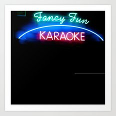 fancy fun karaoke Art Print