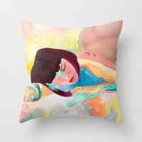 Puffinette Throw Pillow