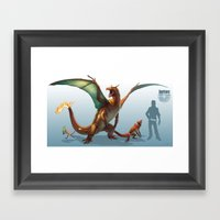 Pokemon-Charizard Framed Art Print