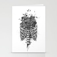 New life (b&w) Stationery Cards