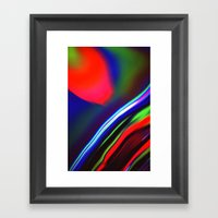 Seismic Folds Framed Art Print