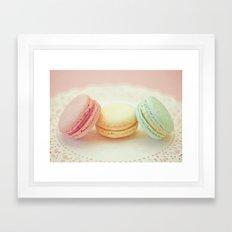 Pastel Macarons Framed Art Print