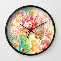 hide and seek floral Wall Clock