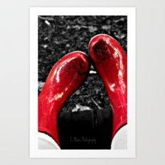 Mud Puddles Art Print