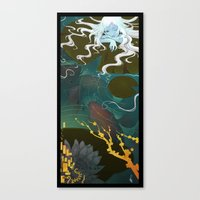 Sprite and Lilies Canvas Print