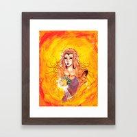 Princess Zelda - Copic Marker and Acrylic Framed Art Print